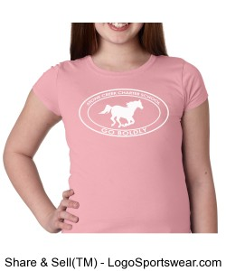 Girls Short Sleeve TShirt - Pink Design Zoom