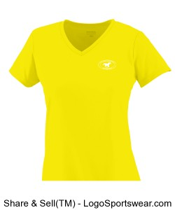 Girls V-Neck TShirt - Yellow Design Zoom