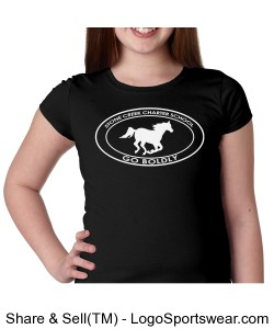 Girls Short Sleeve TShirt - Black Design Zoom