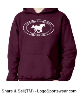Youth Sweatshirt - Maroon Design Zoom