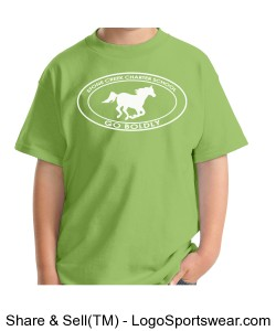 Youth Short Sleeve TShirt - Light Green Design Zoom