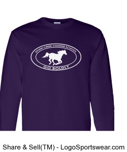 Youth Long Sleeve TShirt - Purple Design Zoom
