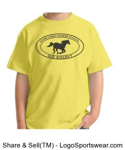 Youth Short Sleeve TShirt - Yellow Design Zoom