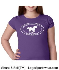 Girls Short Sleeve TShirt - Purple Design Zoom