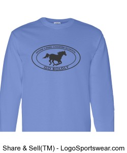Youth Long Sleeve TShirt - Light Blue Design Zoom
