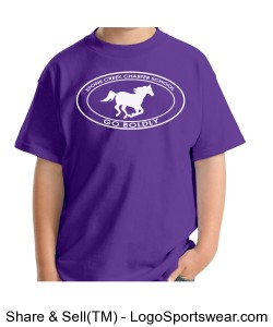 Youth Short Sleeve TShirt - Purple Design Zoom