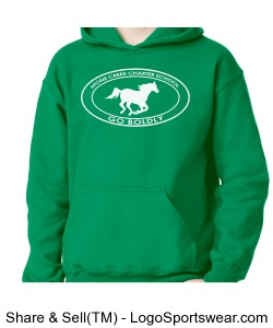 Youth Sweatshirt - Green Design Zoom