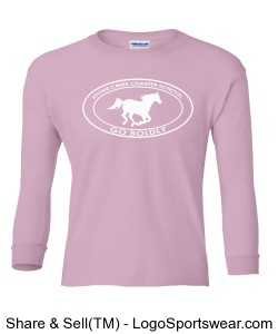 Youth Long Sleeve TShirt - Pink Design Zoom