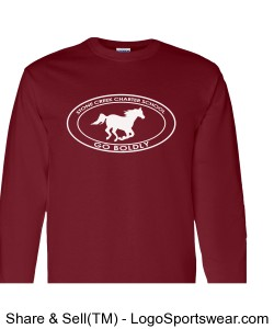 Youth Long Sleeve TShirt- Maroon Design Zoom