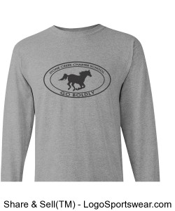 Youth Long Sleeve TShirt - Grey Design Zoom