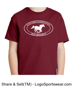 Youth Short Sleeve TShirt - Maroon Design Zoom