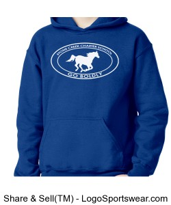 Youth Sweatshirt - Blue Design Zoom