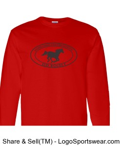 Youth Long Sleeve TShirt - Red Design Zoom