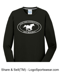 Adult Long Sleeve TShirt - Black Design Zoom
