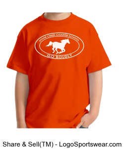 Youth Short Sleeve TShirt - Orange Design Zoom