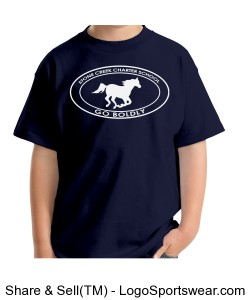 Youth Short Sleeve TShirt - Navy Design Zoom