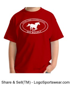 Youth Short Sleeve TShirt - Red Design Zoom