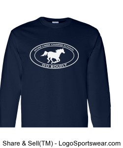 Youth Long Sleeve TShirt - Navy Design Zoom