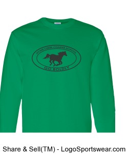 Youth Long Sleeve TShirt - Green Design Zoom