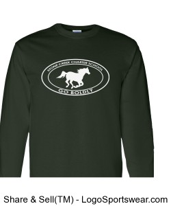Youth Long Sleeve TShirt - Dark Green Design Zoom
