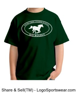 Youth Short Sleeve TShirt - Green Design Zoom