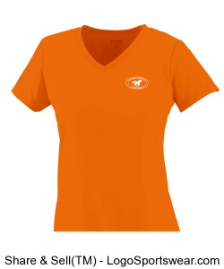 Girls V-Neck TShirt - Orange Design Zoom