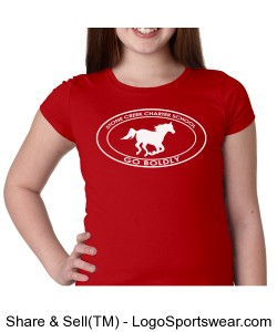 Girls Short Sleeve TShirt - Red Design Zoom