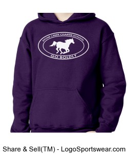Youth Sweatshirt - Purple Design Zoom