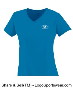 Girls V-Neck TShirt - Blue Design Zoom