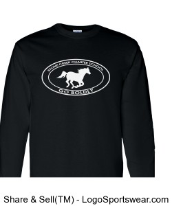 Youth Long Sleeve TShirt - Black Design Zoom